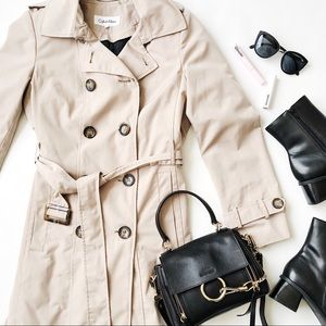 Calvin Klein Tan Trench Coat